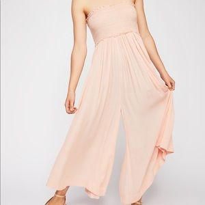 Free People Endless Summer smocked jumpsuit xs